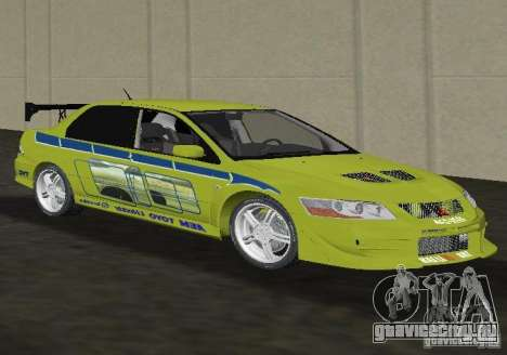 Mitsubishi Lancer Evolution VII для GTA Vice City вид справа