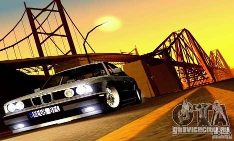 BMW E34 525i для GTA San Andreas вид сверху