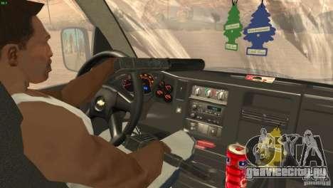 Chevrolet Savana 3500 Cargo Van для GTA San Andreas вид изнутри