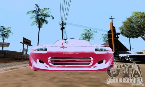 Honda S2000 The Fast and the Furious 2 для GTA San Andreas вид сзади слева