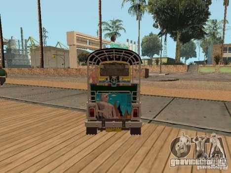 Tuk Tuk Thailand для GTA San Andreas вид сзади слева