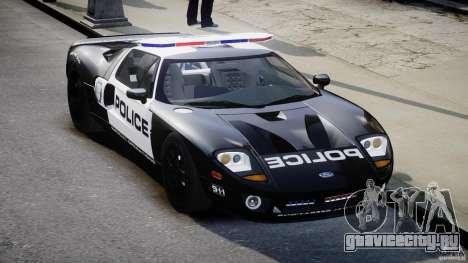Ford GT1000 Hennessey Police 2006 [EPM][ELS] для GTA 4 вид сзади