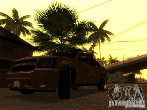 Chevrolet Avalanche Tuning для GTA San Andreas вид сзади