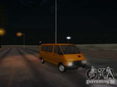 Renault Trafic T1000D Minibus для GTA San Andreas вид снизу
