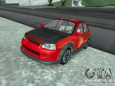 ВАЗ 1118 Калина для GTA San Andreas вид снизу