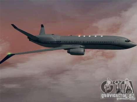 Boeing 737 Iron Man Bussines Jet для GTA San Andreas вид сзади