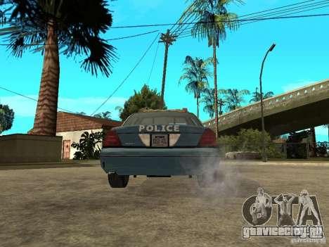 2003 Ford Crown Victoria Gotham City Police Unit для GTA San Andreas вид сзади слева