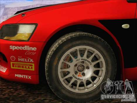 Mitsubishi Lancer Evolution IX Rally для GTA San Andreas вид изнутри