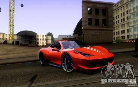 Ferrari 458 Italia Final для GTA San Andreas двигатель
