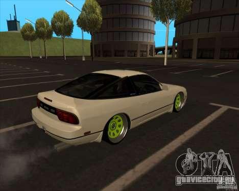 Nissan 180SX JDM для GTA San Andreas вид сзади