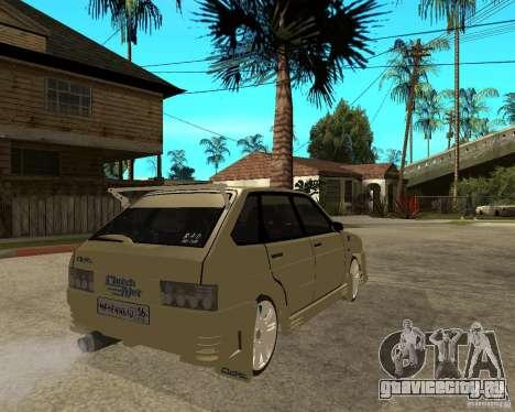 ВАЗ 2114 Меченный для GTA San Andreas вид сзади слева