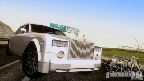 Rolls Royce Phantom Hamann для GTA San Andreas вид сзади