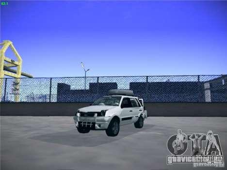 Ford EcoSport 2008 для GTA San Andreas вид сзади