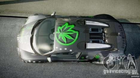 Bugatti Veyron 16.4 v1.0 new skin для GTA 4 вид справа