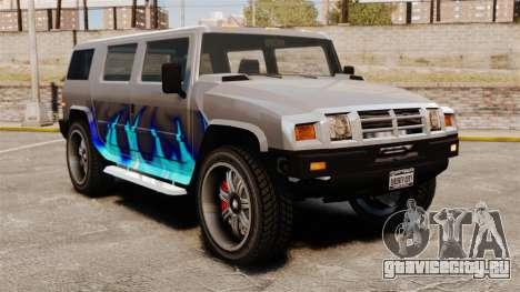 Patriot в раскраске Голубой огонь для GTA 4