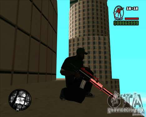 Chrome black red gun pack для GTA San Andreas второй скриншот
