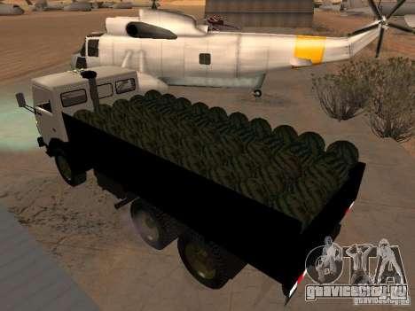 КАМАЗ 53212 бортовой для GTA San Andreas вид сзади слева