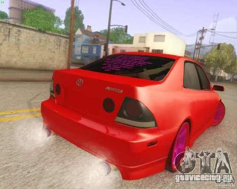 Toyota Altezza Drift Style v4.0 Final для GTA San Andreas вид справа