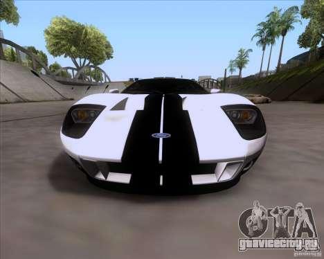 Ford GT для GTA San Andreas вид сзади слева