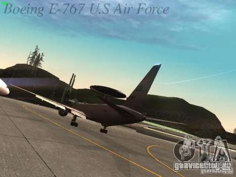 Boeing E-767 U.S Air Force для GTA San Andreas вид справа