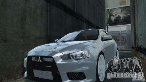 Mitsubishi Lancer EVO X для GTA 4 вид справа