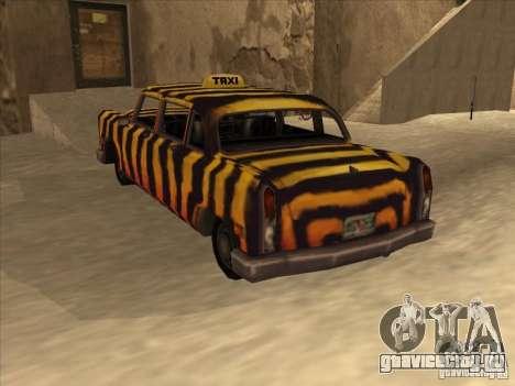 Zebra Cab из Vice City для GTA San Andreas вид сзади