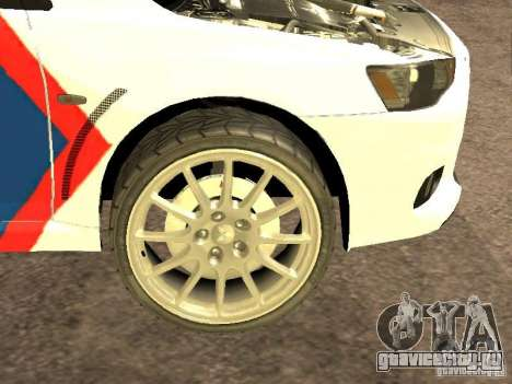 Mitsubishi Lancer X Police Indonesia для GTA San Andreas вид изнутри
