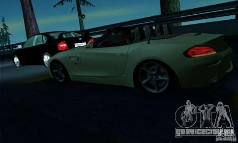 BMW Z4 2010 для GTA San Andreas салон