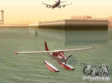 Cessna 152 водный вариант для GTA San Andreas вид сзади слева