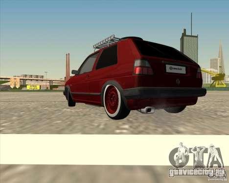 VW Golf II Shadow Crew для GTA San Andreas вид слева