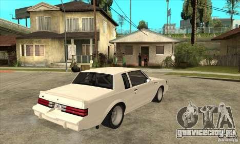 Buick Regal Grand National GNX для GTA San Andreas вид справа