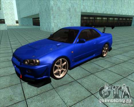 Nissan Skyline R-34 GT-R M-spec Nur для GTA San Andreas вид слева