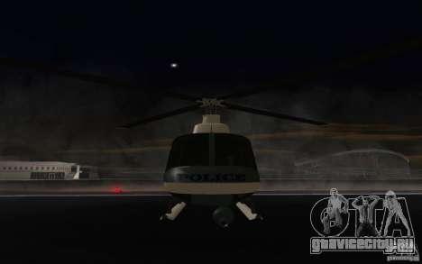 GTA IV Police Maverick для GTA San Andreas вид слева