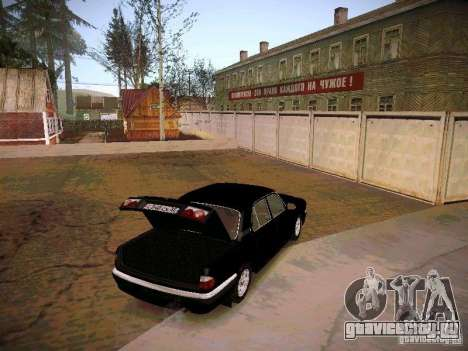 ГАЗ 31105 Волга Рейстайлинг для GTA San Andreas вид изнутри