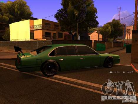 Emperor GT для GTA San Andreas вид изнутри