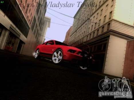 Ford Mustang GT 2011 для GTA San Andreas вид сзади