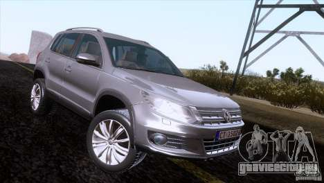 Volkswagen Tiguan 2012 для GTA San Andreas вид справа