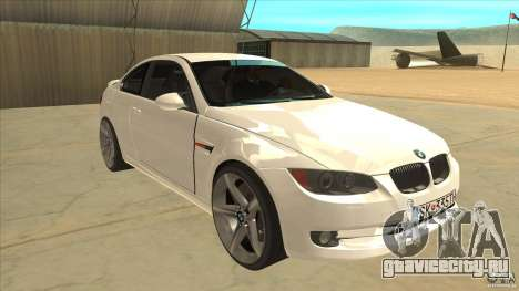 BMW 335i Coupe 2011 для GTA San Andreas вид сзади
