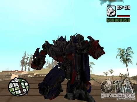 Optimus Prime для GTA San Andreas второй скриншот