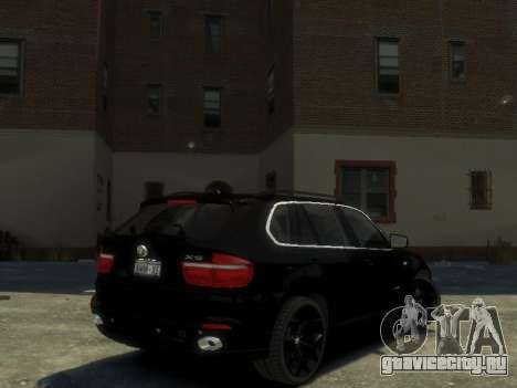 BMW X5 для GTA 4 вид сзади слева