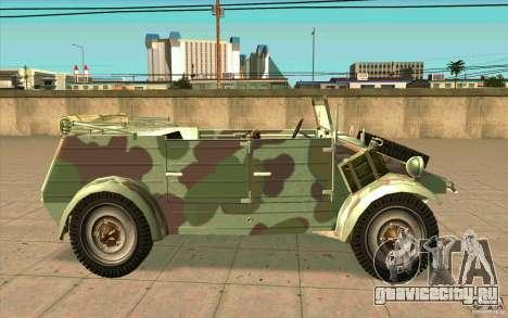Kuebelwagen для GTA San Andreas вид слева