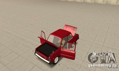 ЗАЗ 968M для GTA San Andreas вид сзади