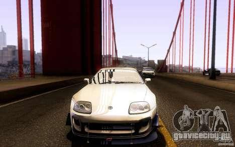 Toyota Supra D1 1998 для GTA San Andreas вид снизу