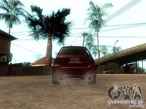 Serrano Stock для GTA San Andreas вид сзади слева