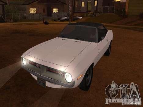 Plymouth Barracuda Rag Top 1970 для GTA San Andreas