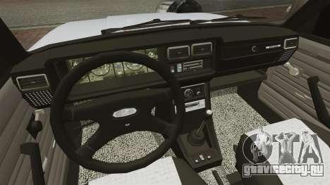 ВАЗ-2107 Mansory для GTA 4 вид изнутри