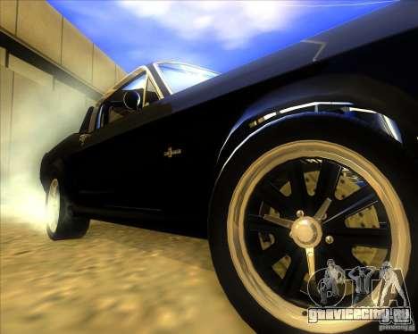 Shelby GT500 Eleanora clone для GTA San Andreas вид сзади