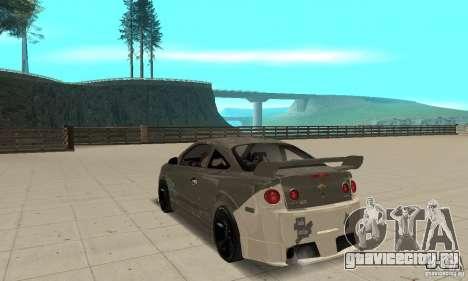 Chevrolet Cobalt SS NFS ProStreet для GTA San Andreas вид сзади слева