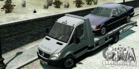 Mercedes-Benz Sprinter 3500 для GTA 4 вид сзади слева