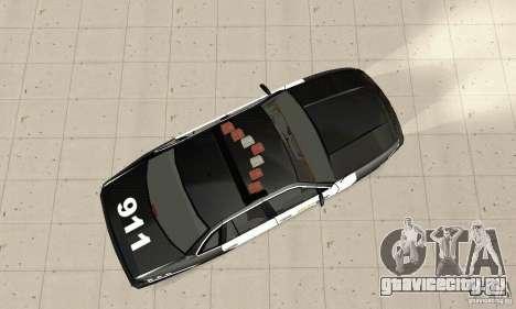 Ford Taurus 1992 Police для GTA San Andreas вид справа